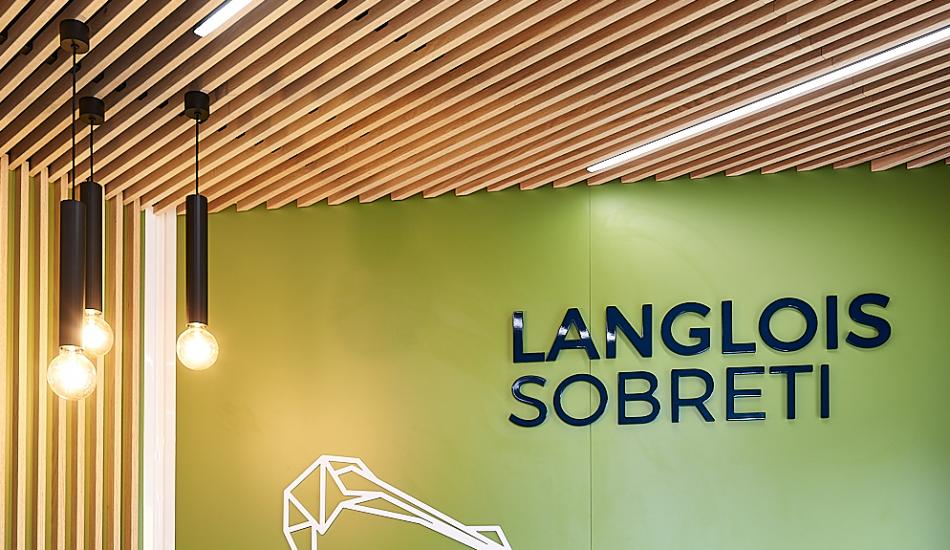 Agence Langlois Sobreti Plafond bois acoutisque Laudescher
