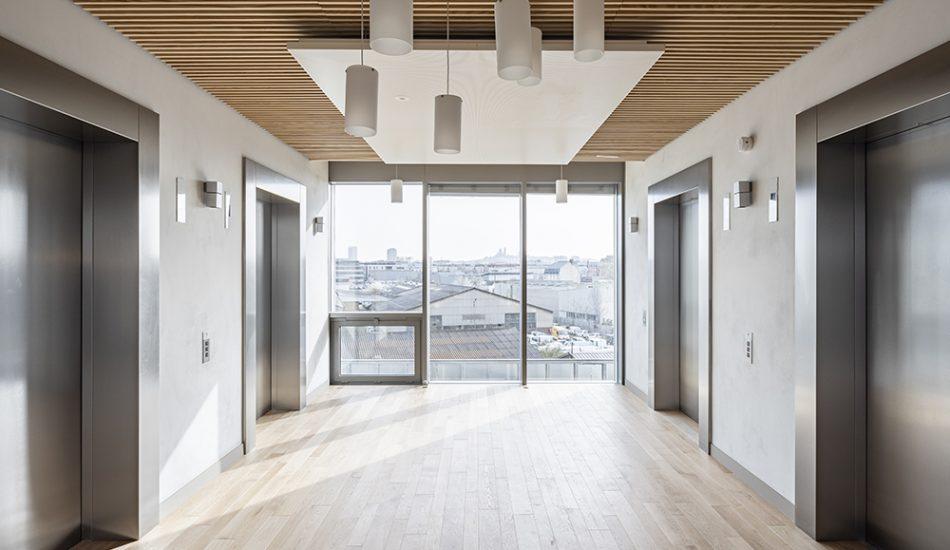 laudescher réalisation plafond bois acoustique woodwork